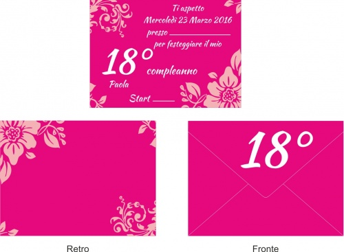 Favori 10 Invitations + Envelope Birthday Party Invitation Party 18 years  ZQ28
