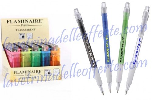100 custom + 100 pens lighters most advertising companies 2013, with written