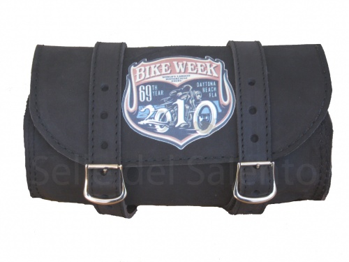 Borsa moto pelle BIKE WEEK CHOPPER Barilotto custom Bobber HARLY DAVIDSON