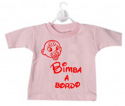 Mini t-shirt bimbo bimba a bordo