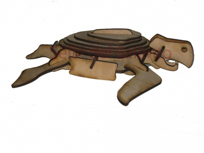 Model 3D Puzzle loggerhead turtle skeleton 19 cm beech