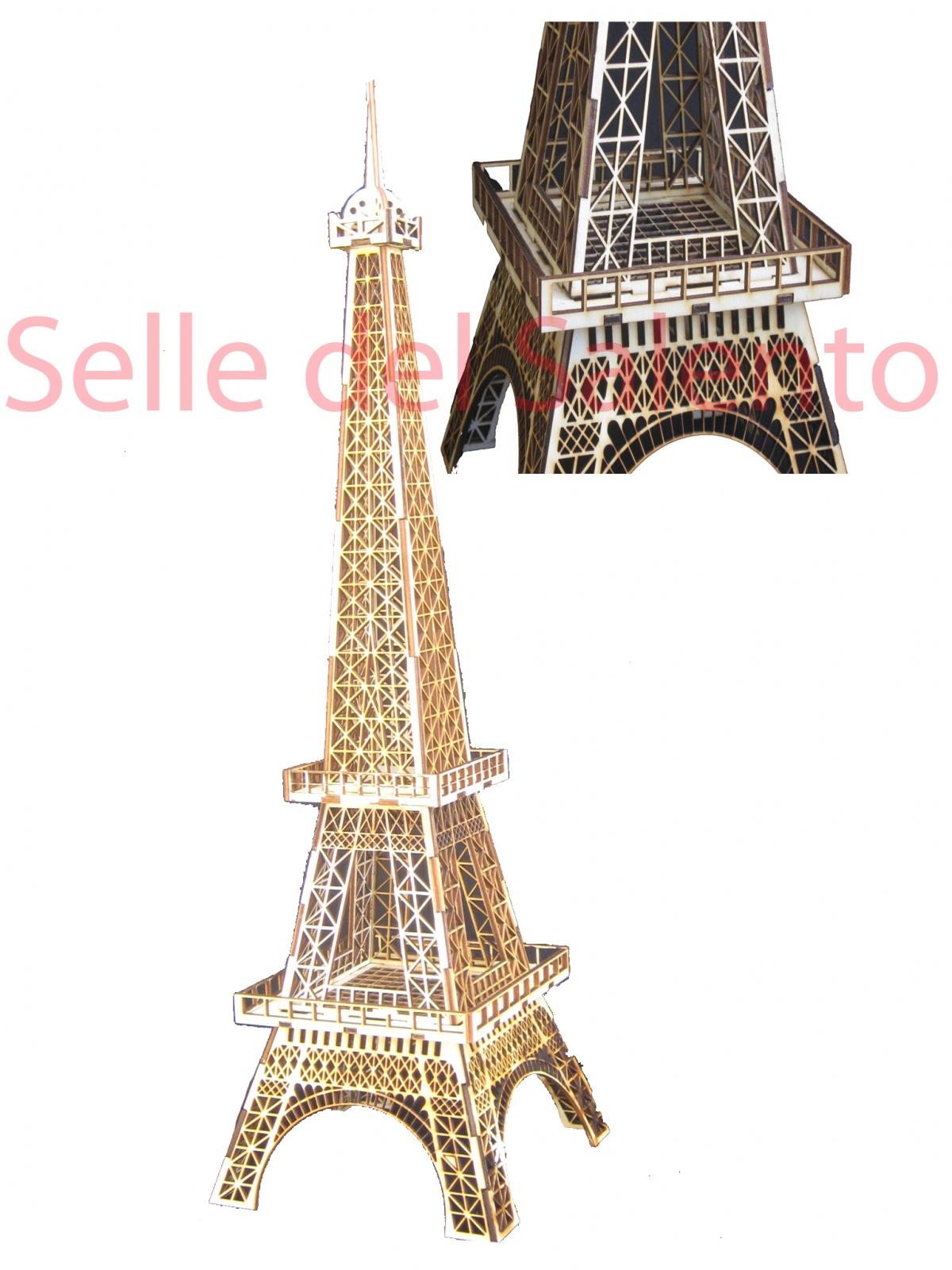 Model 3D Puzzle Eiffel Tower Souvenir 70 cm wooden