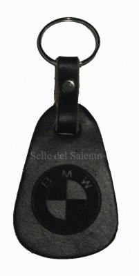 Leather keychain laser engraving BMW
