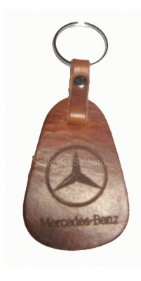Leather keychain laser engraving Mercedes-Benz