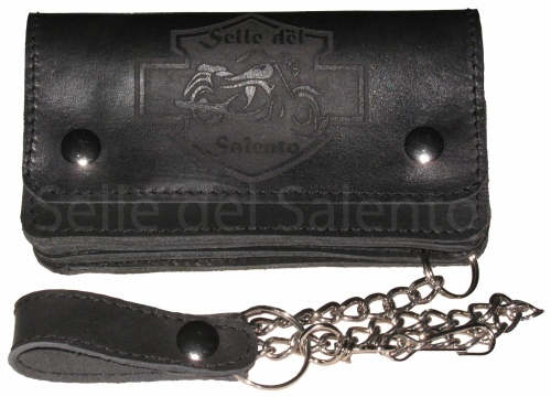 Portfolio with logo engraving saddles Salento horizontal x biker biker