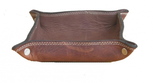 Empty pockets leather light brown copia