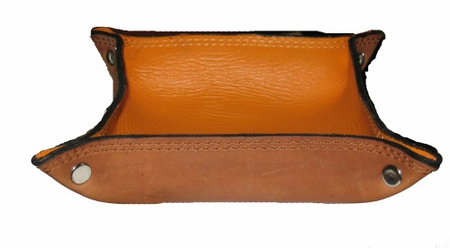 Empty pockets leather brown schiarente copia